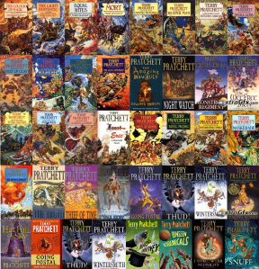 Pictured: Anything by Terry Pratchett