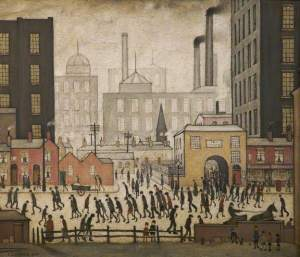L S Lowry's Coming From the Mill