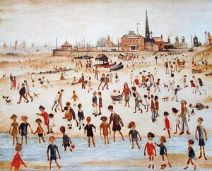 L S Lowry's At the Seaside