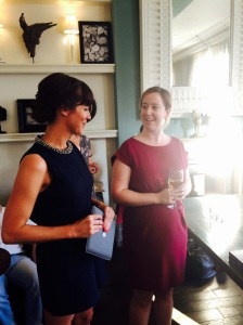 Cesca talking to her editor Louise Cullen